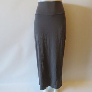Elieen Fisher Gray Maxi Skirt | Size Lg.